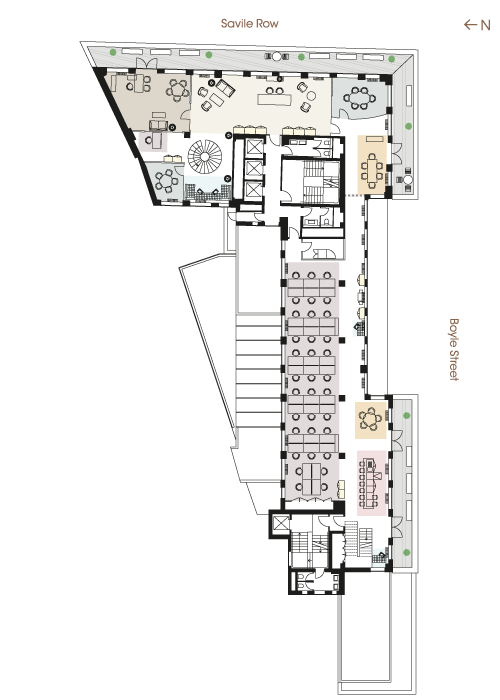 Floor plan - Fifth Floor Open Plan